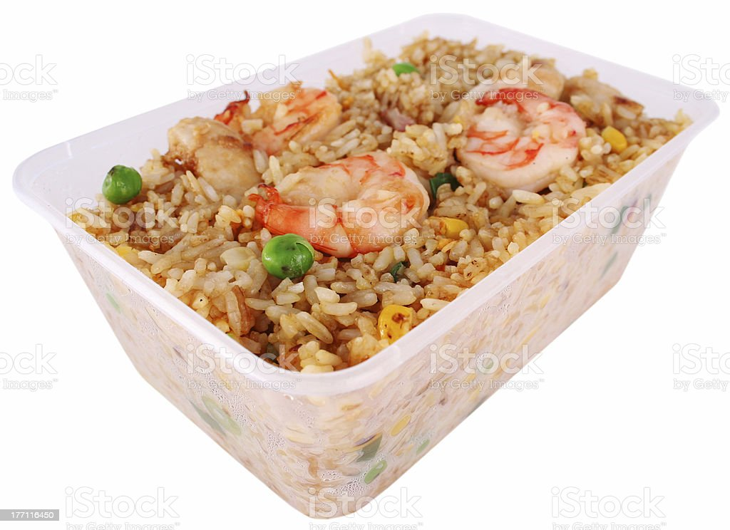 Fried rice with clipping path royalty-free stock photo