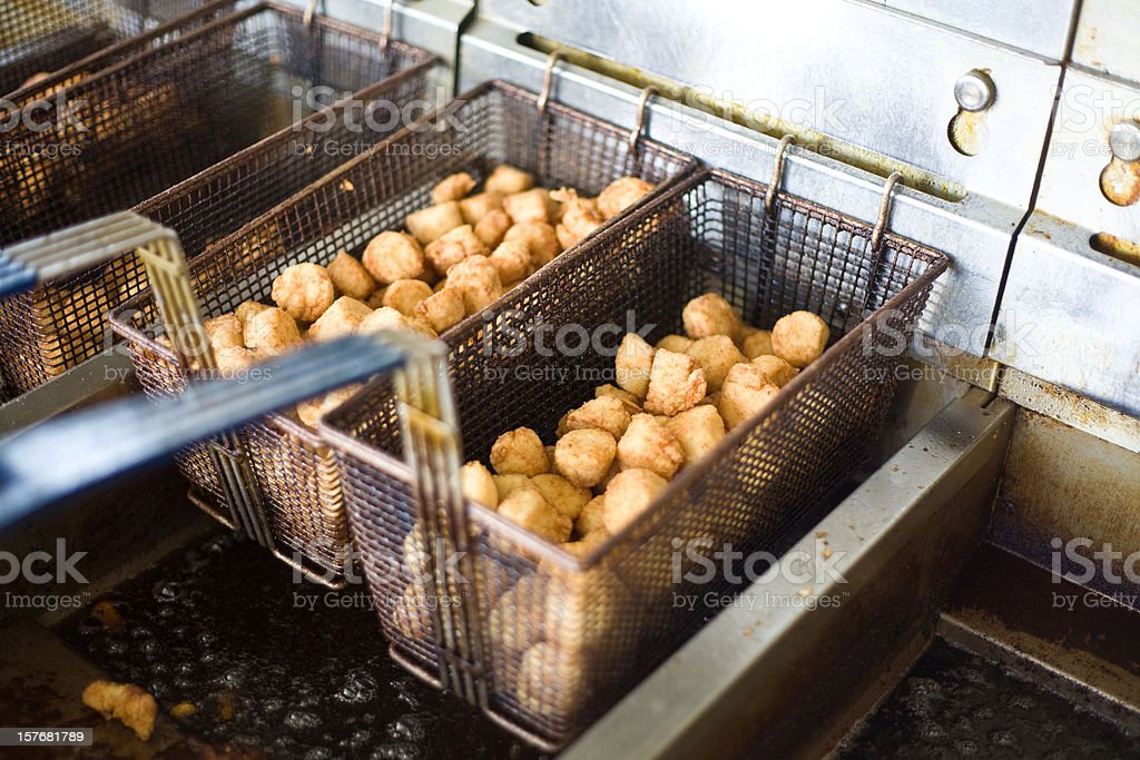 Fried Scallops royalty-free stock photo