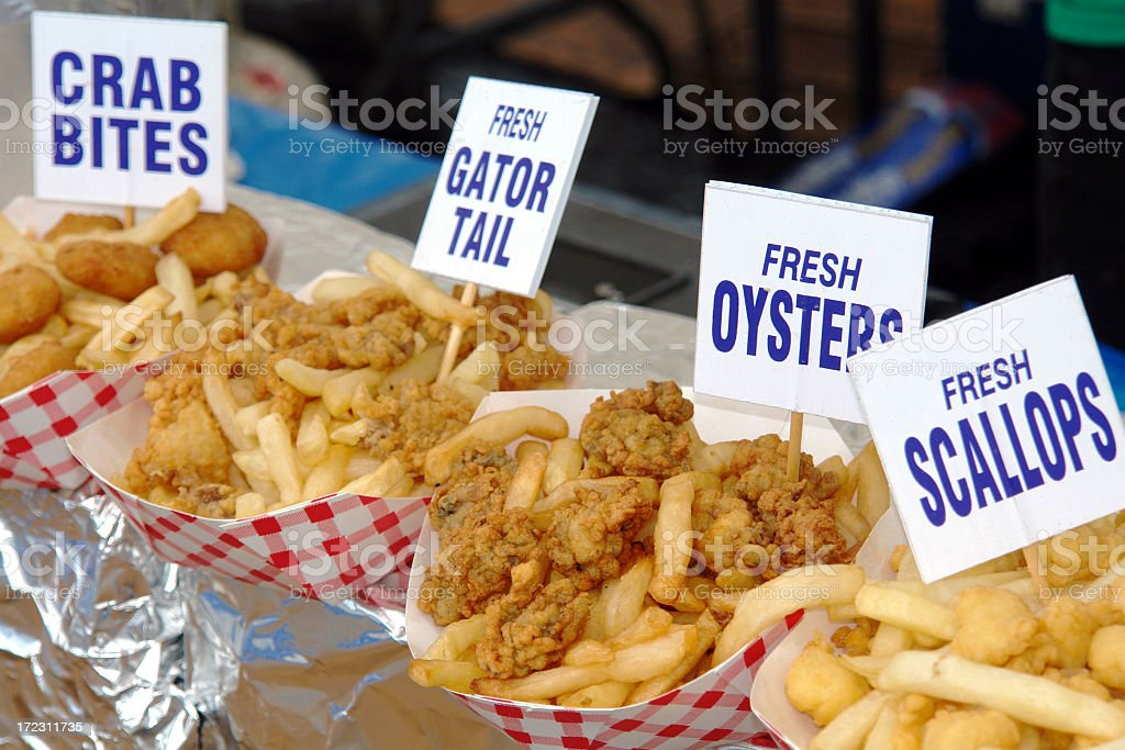 Fried Seafood royalty-free stock photo