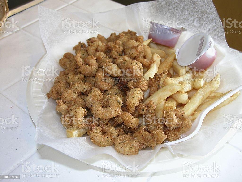 Fried Shrimp royalty-free stock photo