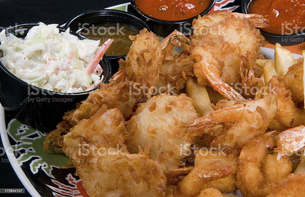 fried shrimp platter royalty-free stock photo