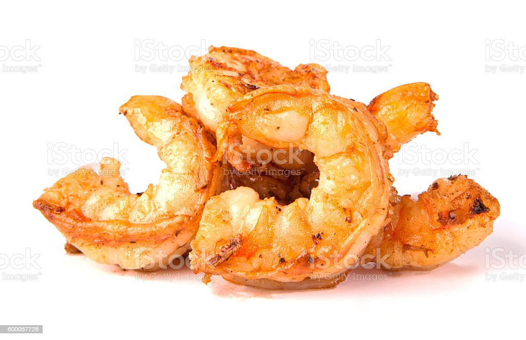 Fried shrimps. Fast food. Junk food stock photo