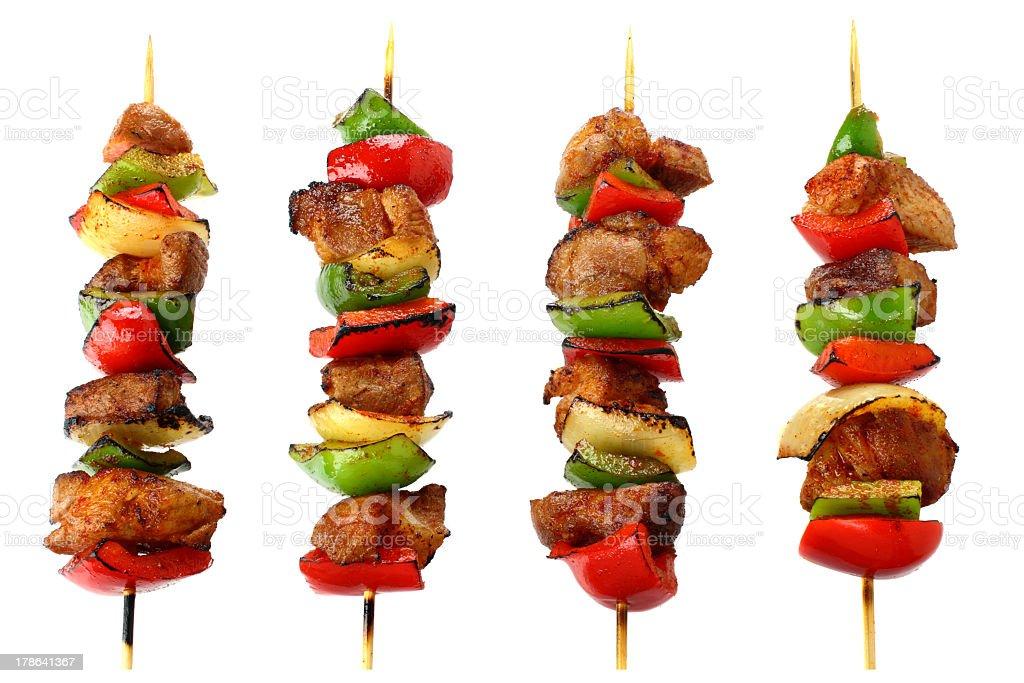 Fried skewers stock photo