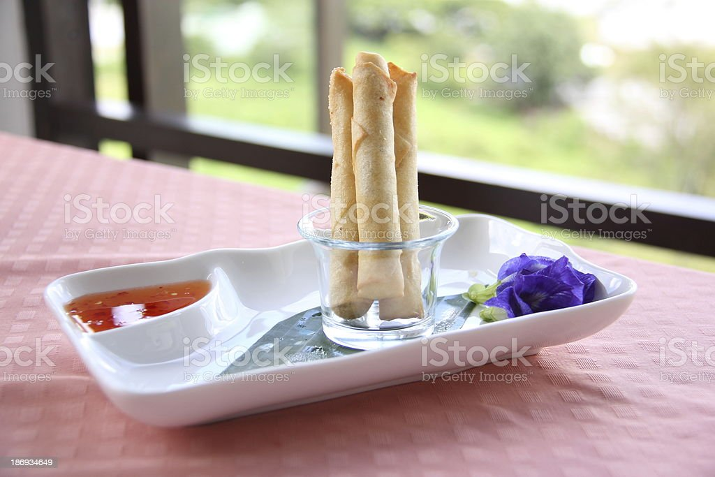Fried Spring Roll royalty-free stock photo