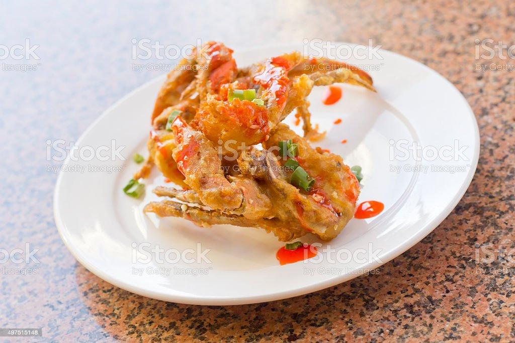 Fried Thai Crab Legs stock photo
