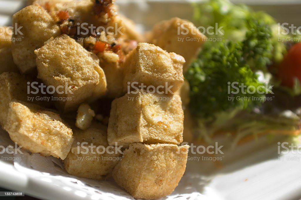 fried tofu royalty-free stock photo