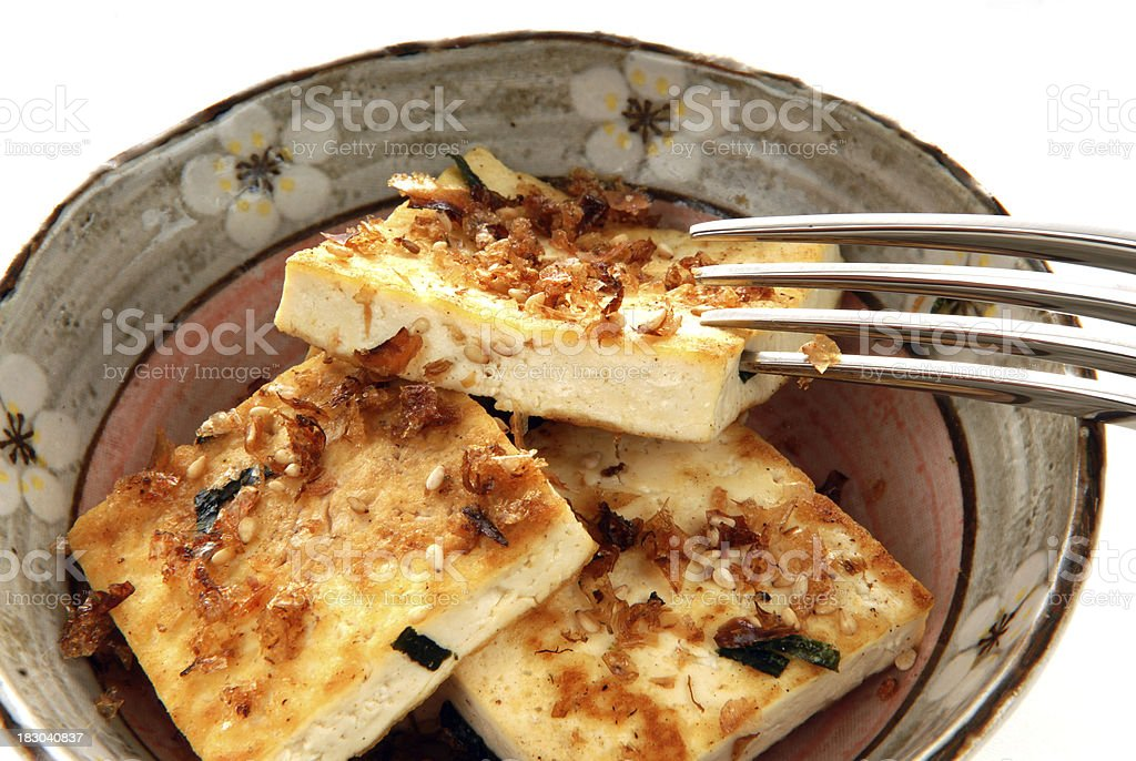 Fried Tofu royalty-free stock photo