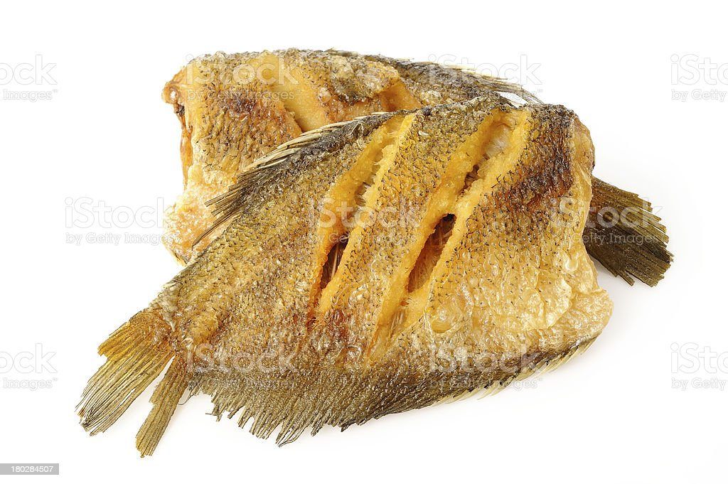 fried trichogaster pectoralis fish royalty-free stock photo