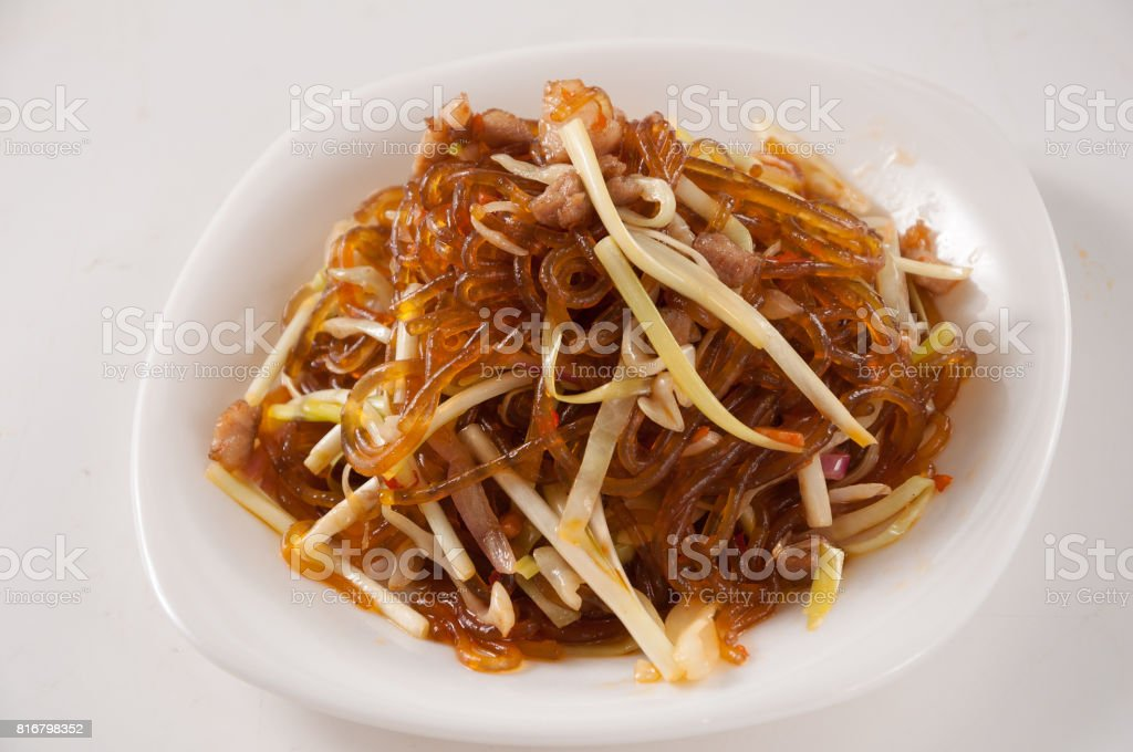 Fried vermicelli stock photo