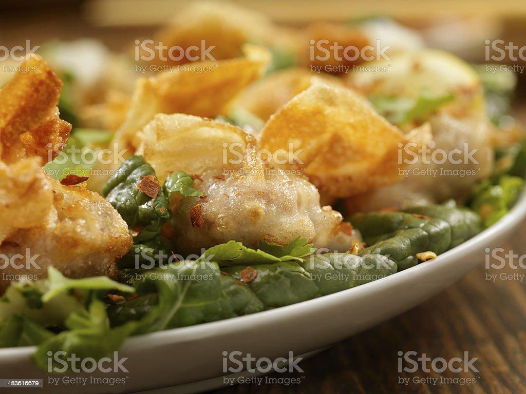 Fried Wontons stock photo