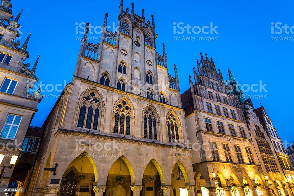 Friedenssaal in Münster (Prinzipalmarkt) stock photo