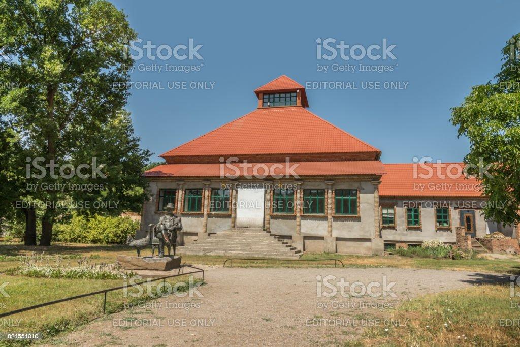 Friedrich Falz-Fein monument, founder of the known biosphere reserve Askania-Nova in Ukraine stock photo