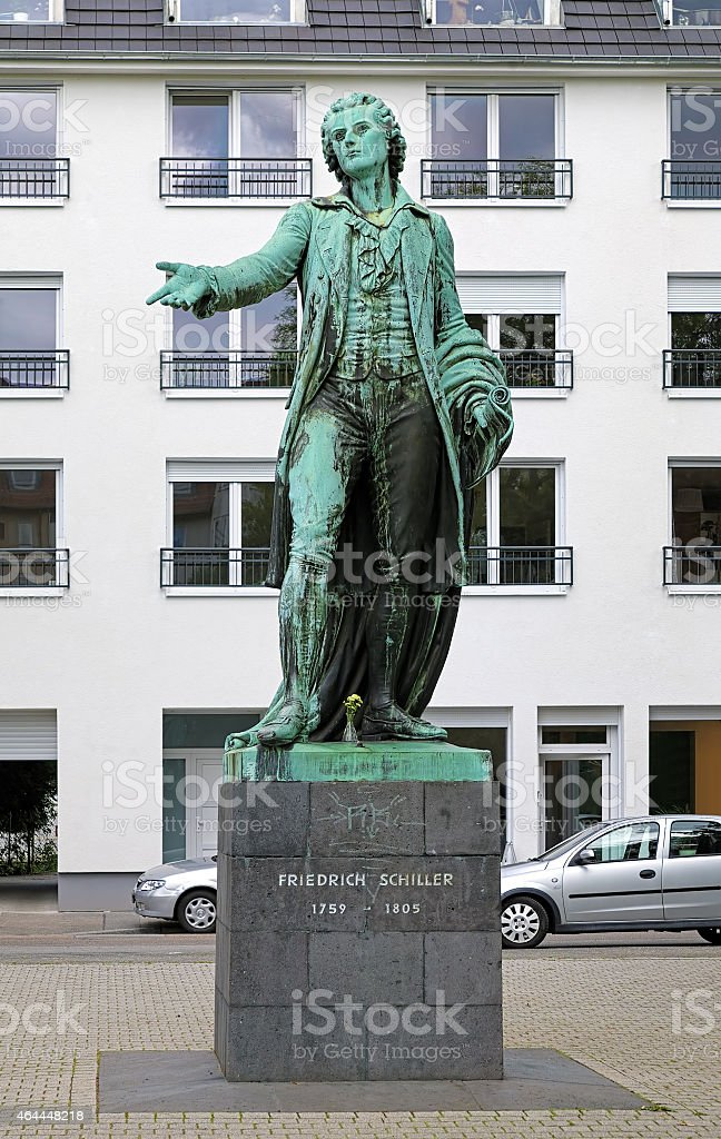 Friedrich Schiller monument in Mannheim, Germany stock photo
