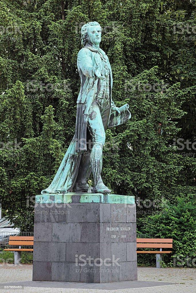 Friedrich Schiller monument in Mannheim, Germany stock photo