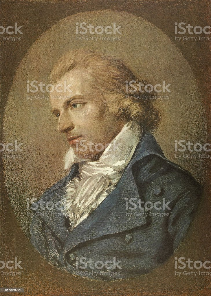 Friedrich Schiller portrait stock photo