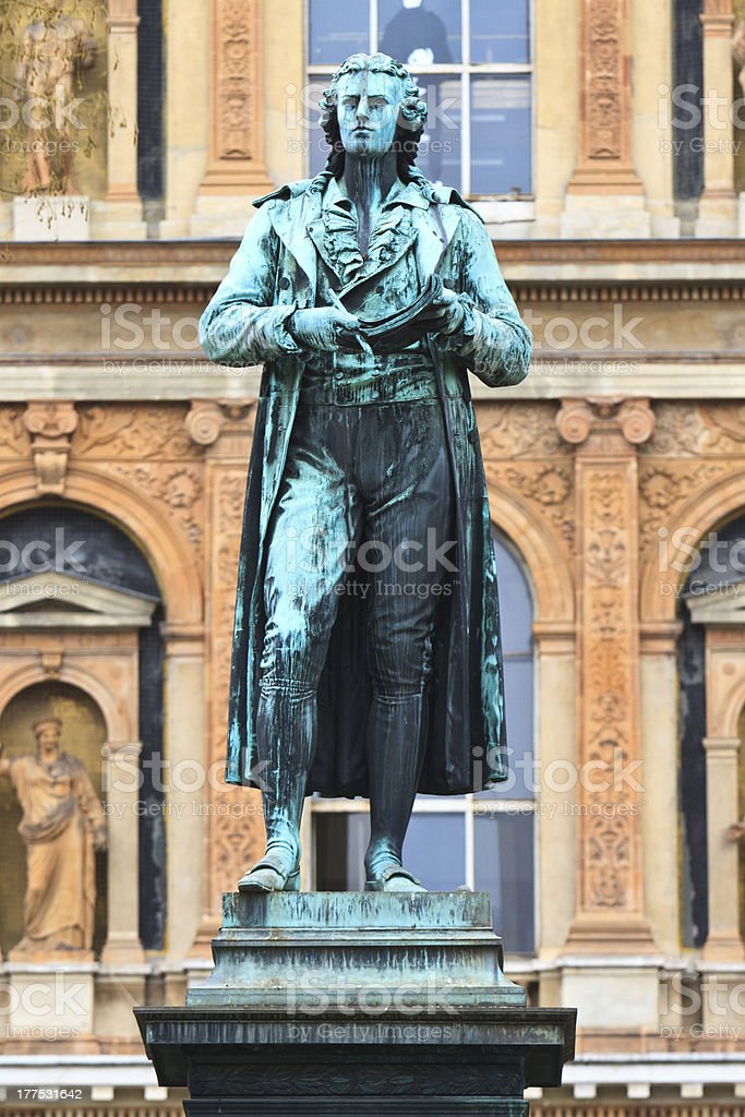 Friedrich Schiller Statue stock photo