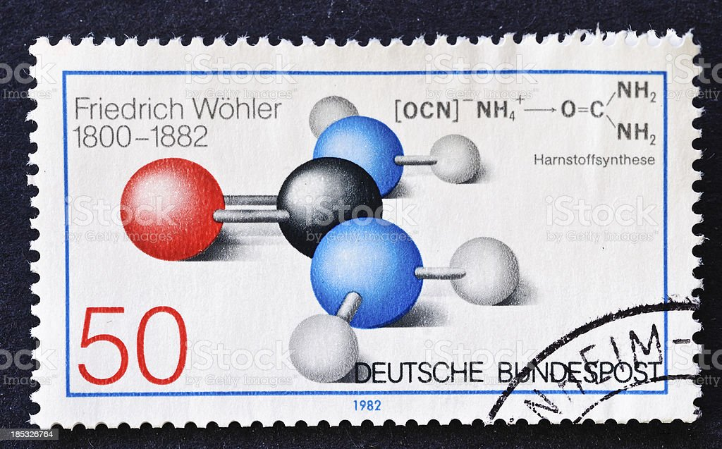 Friedrich Wohler Stamp royalty-free stock photo