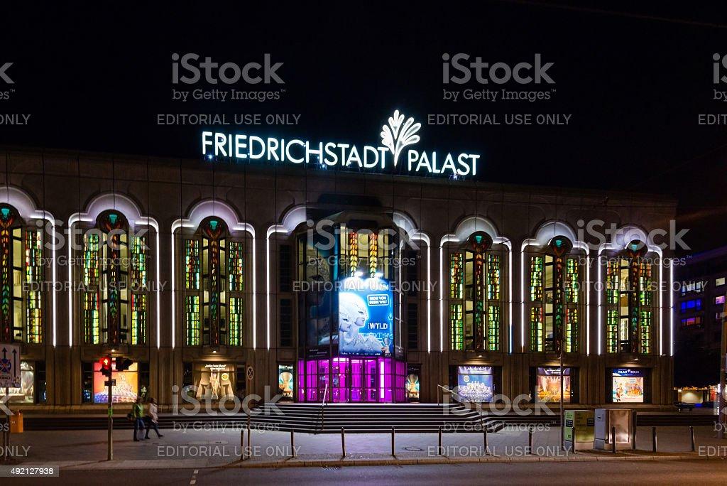 Friedrichstadt Palast at night stock photo