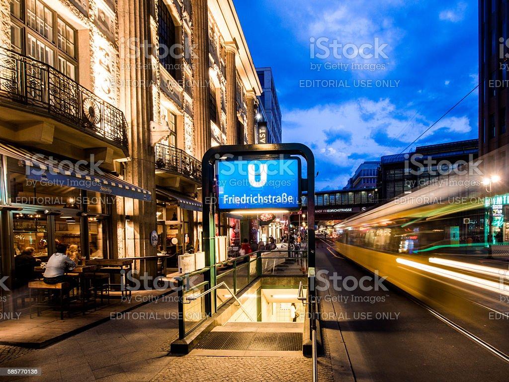 Friedrichstrasse in Berlin, Germany stock photo