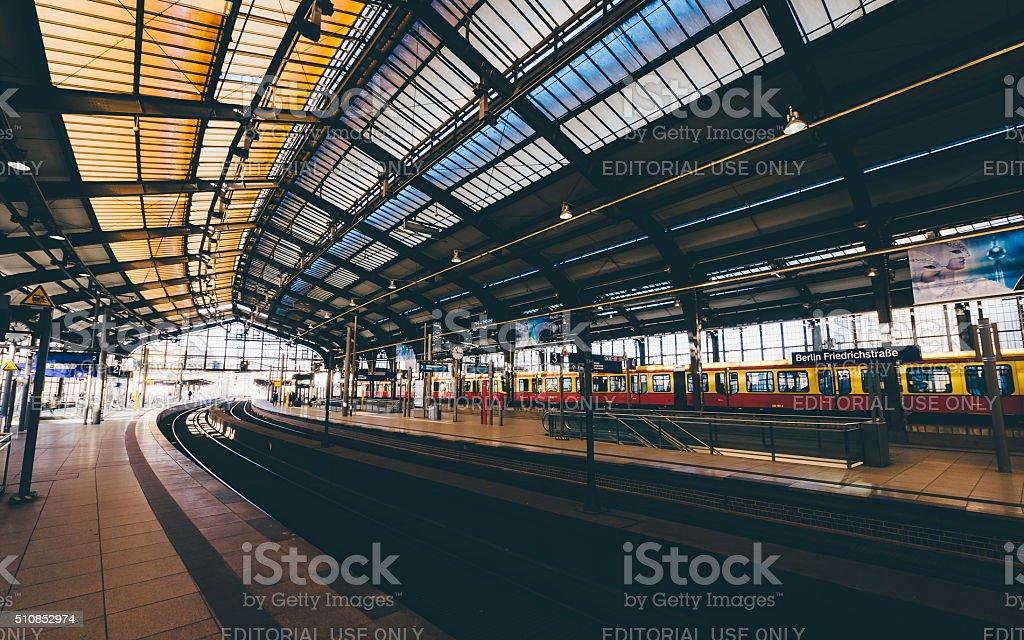 Friedrichstrasse railway station in Berlin, Germany stock photo