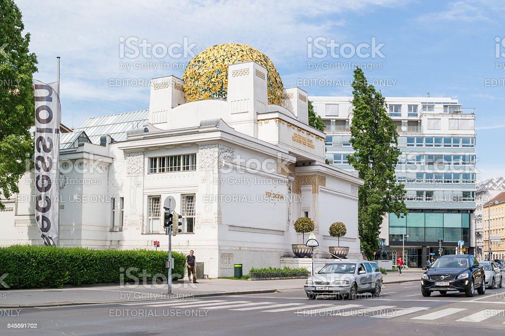 Friedrichstrasse with Secession, Vienna, Austria stock photo
