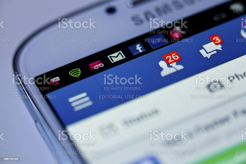 Friend request in facebook stock photo