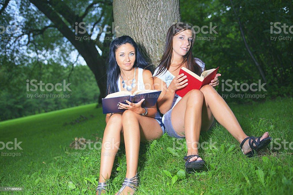 Friend Woman - Book royalty-free stock photo