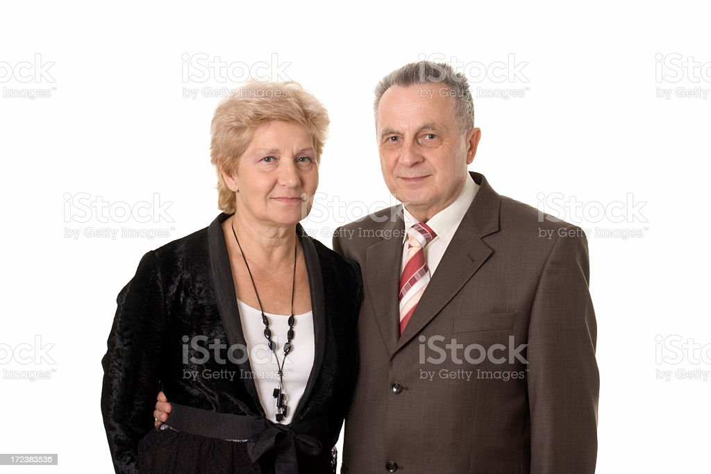 friendly adult couple royalty-free stock photo