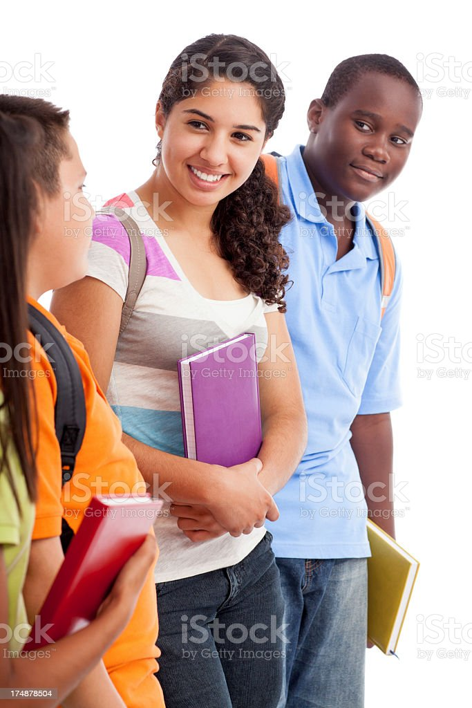 Friendly and cheerful students royalty-free stock photo