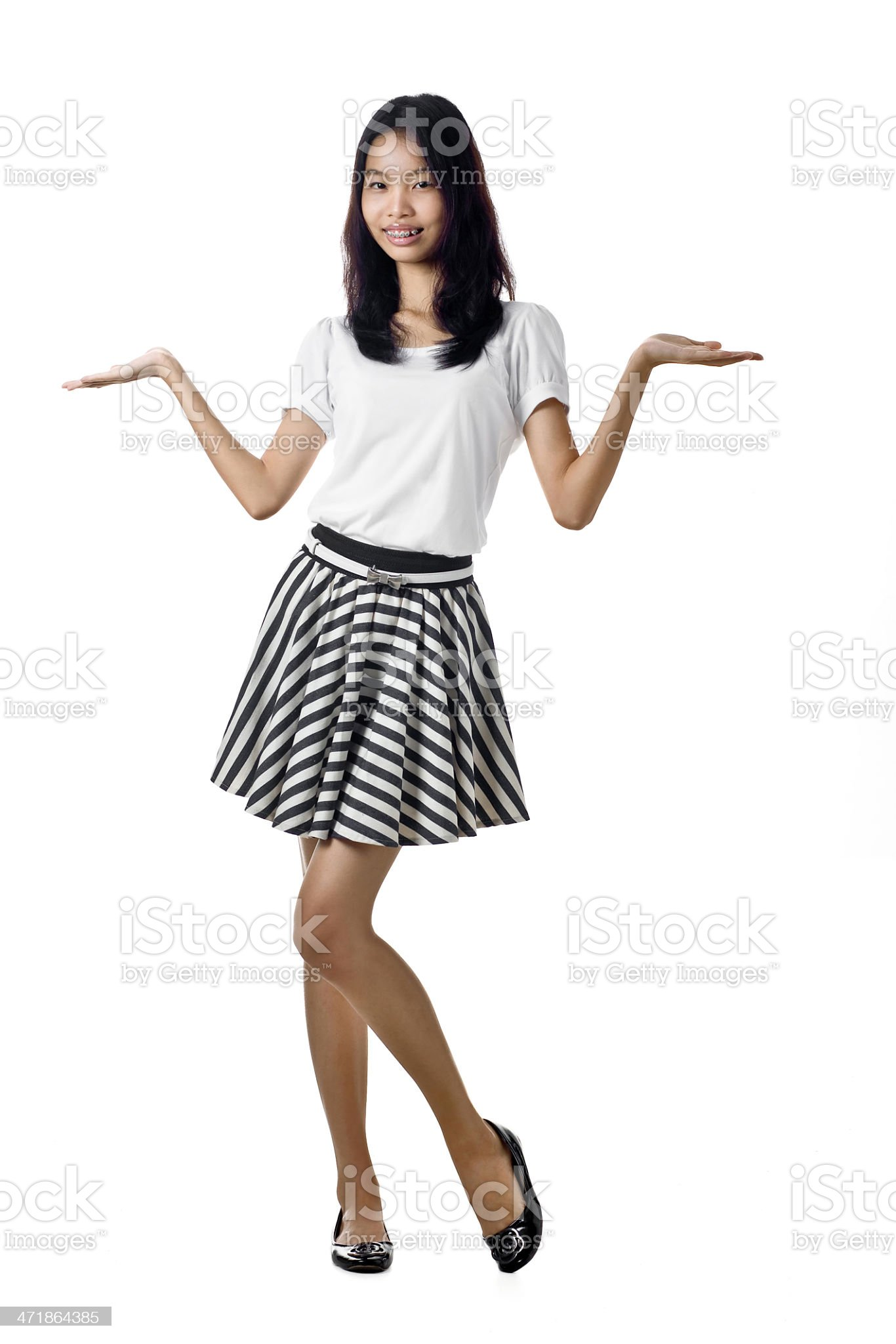 Friendly Asian girl Isolated royalty-free stock photo