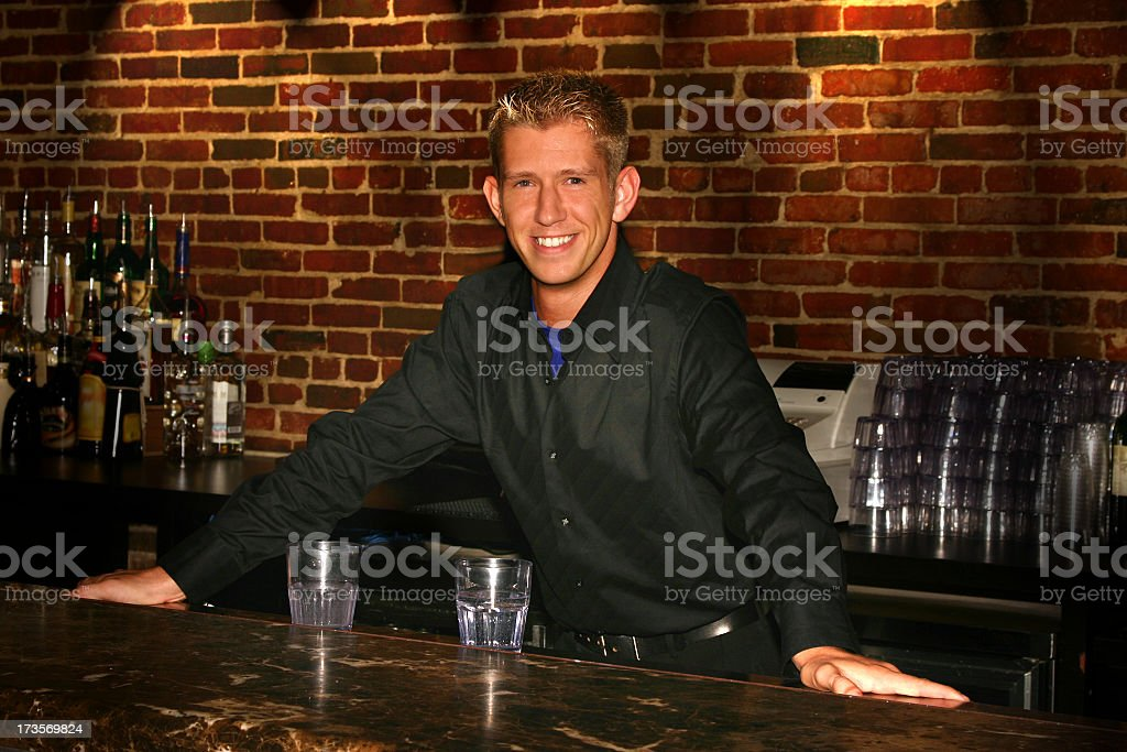 Friendly Bar Tender royalty-free stock photo
