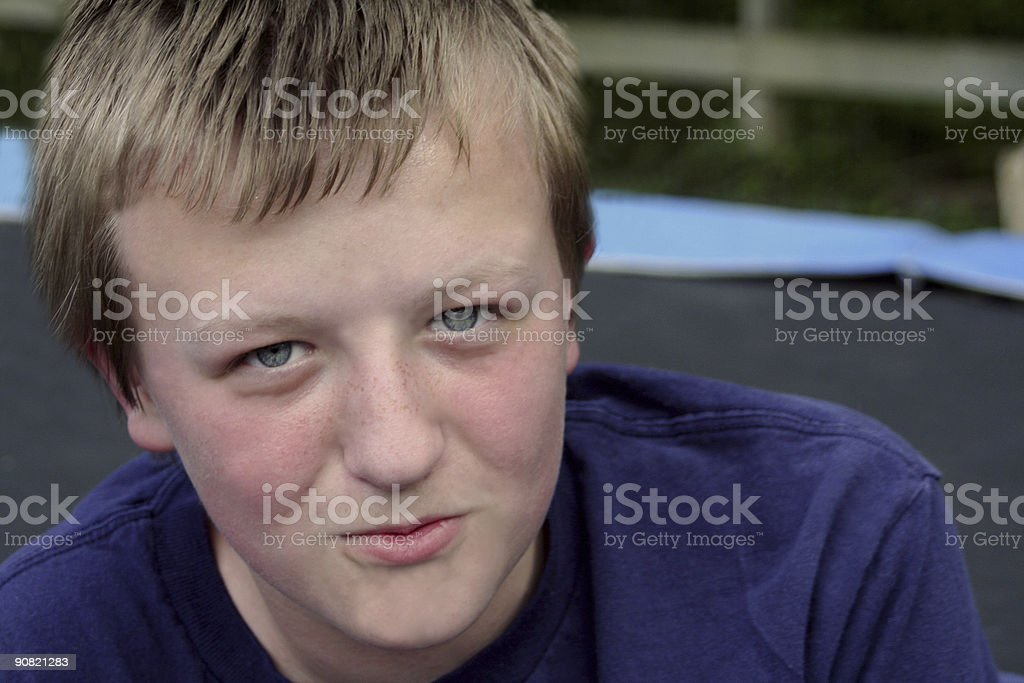 Friendly Boy royalty-free stock photo