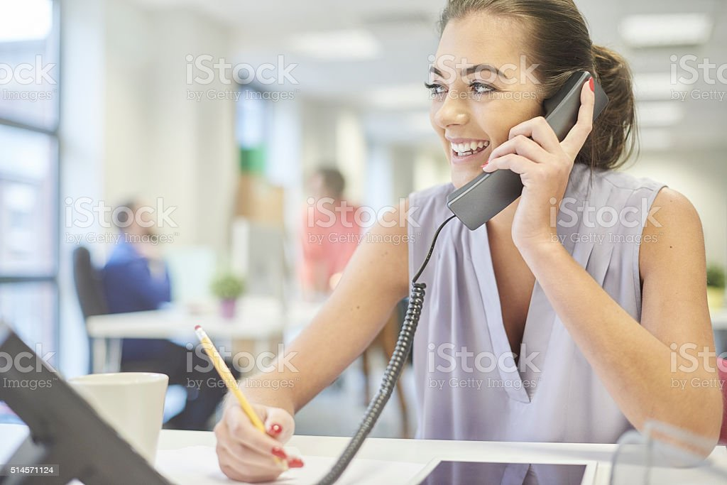 friendly business call stock photo