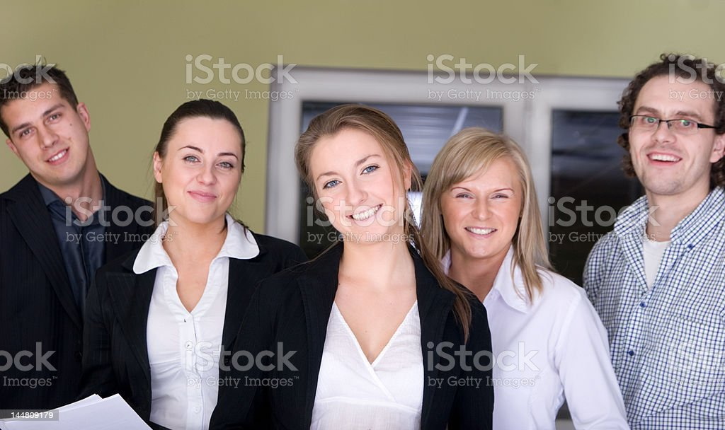 Friendly business people royalty-free stock photo