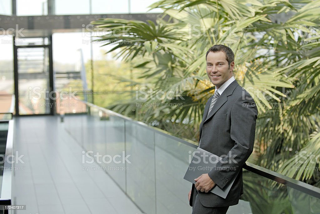 friendly businessman royalty-free stock photo