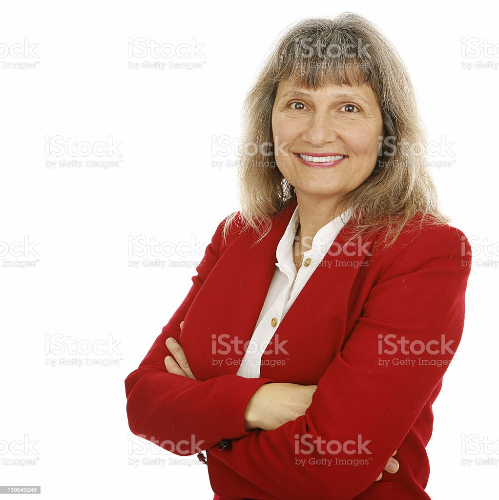 Friendly Businesswoman or Realtor royalty-free stock photo