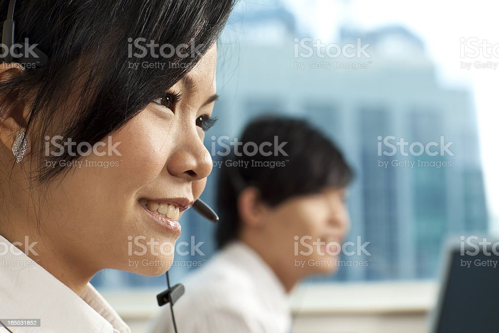 Friendly call center royalty-free stock photo