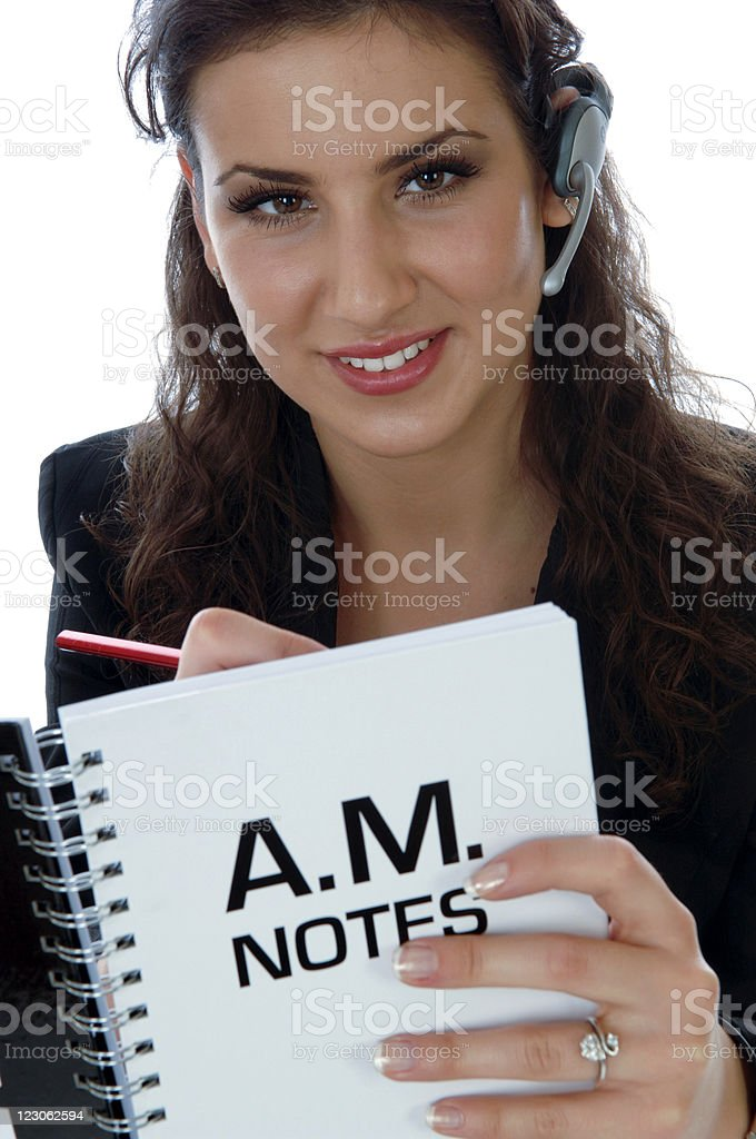Friendly call operater stock photo
