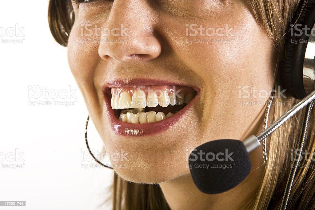 Friendly call operator royalty-free stock photo