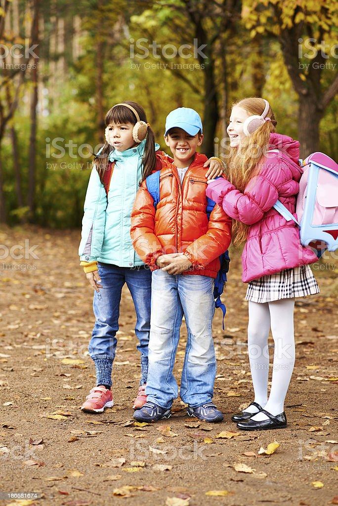Friendly classmates royalty-free stock photo