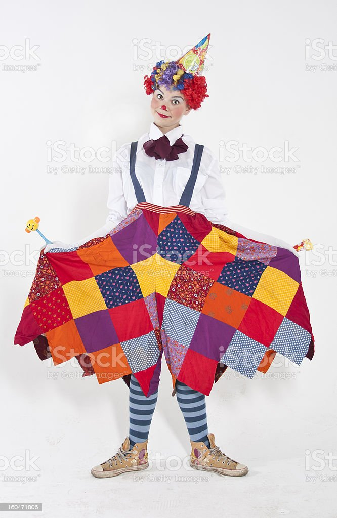 Friendly clown stock photo