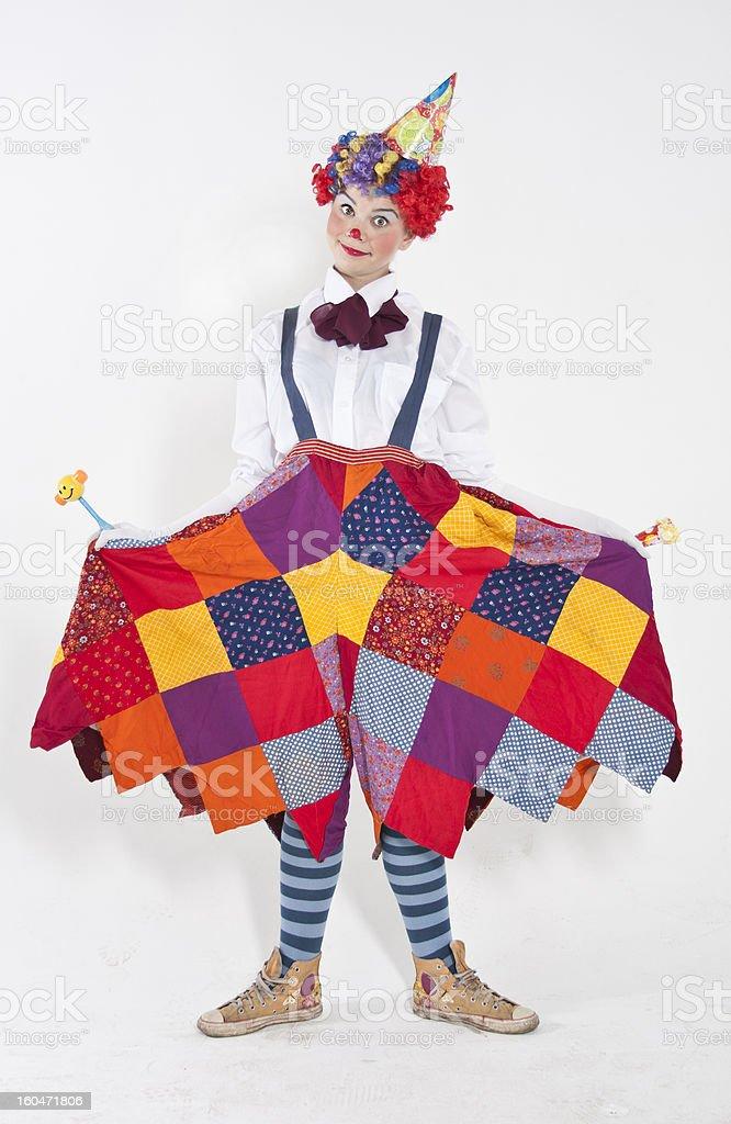 Friendly clown stock photo