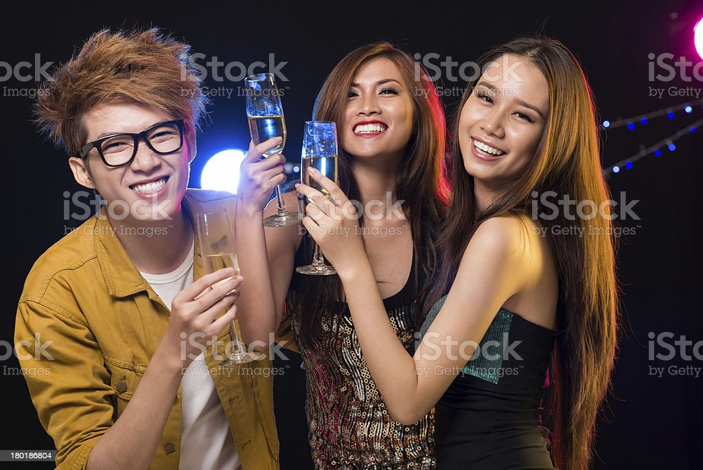 Friendly clubbing royalty-free stock photo