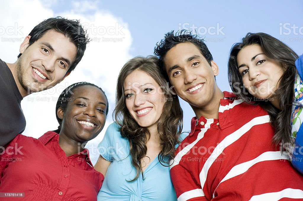 Friendly College Students royalty-free stock photo