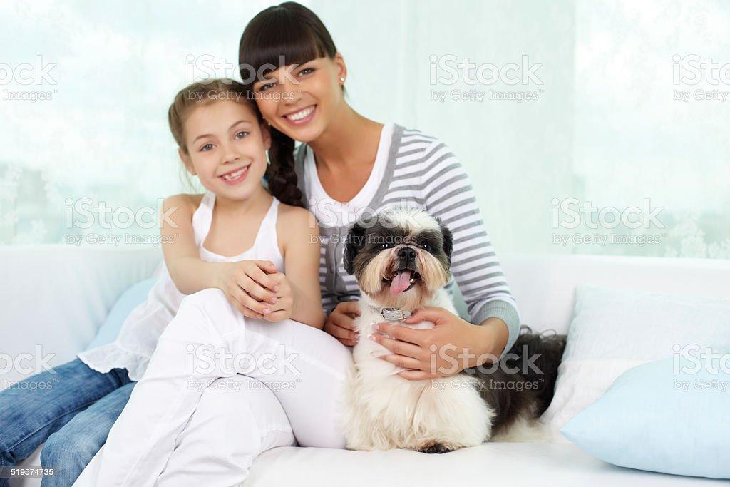 Friendly company stock photo