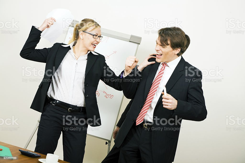 Friendly conflict royalty-free stock photo