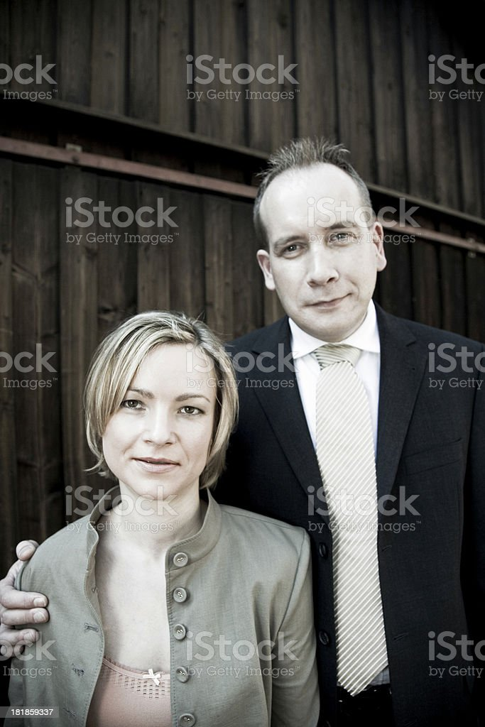 friendly couple royalty-free stock photo