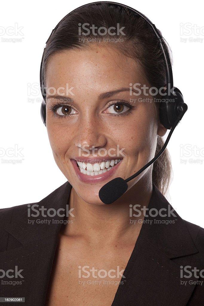 Friendly customer Service royalty-free stock photo