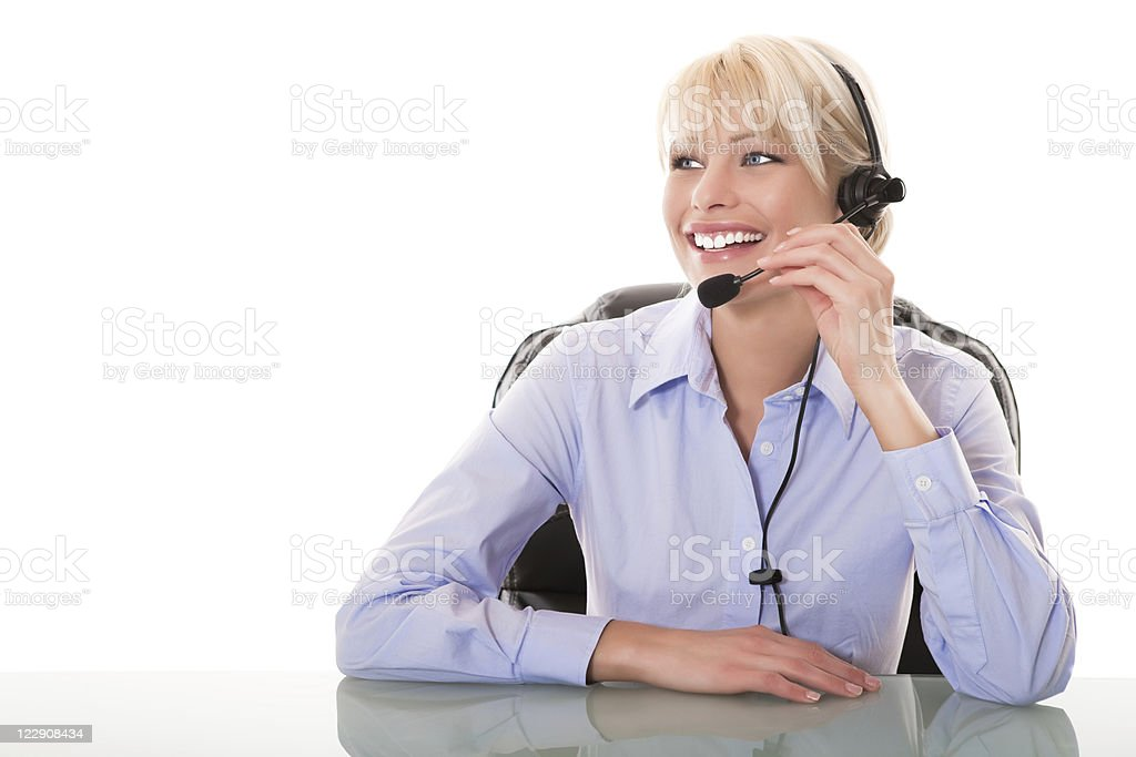 Friendly customer services royalty-free stock photo