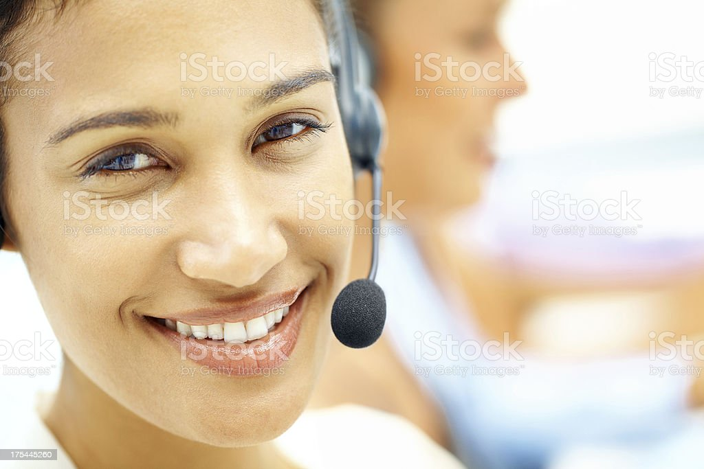 Friendly customer support royalty-free stock photo